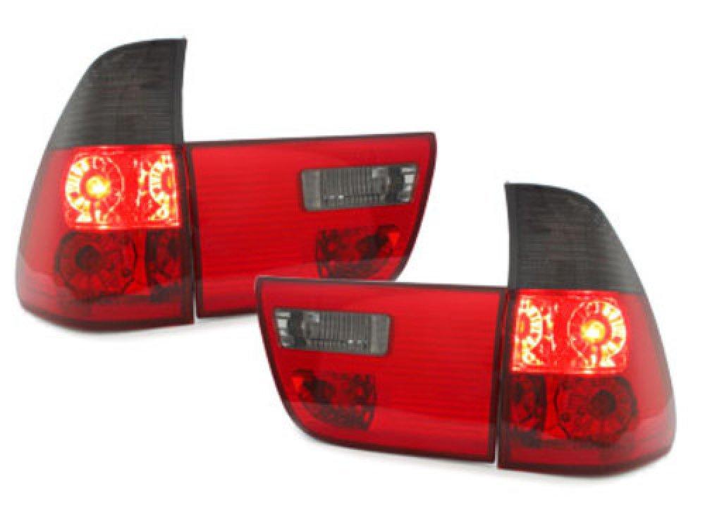 Задние фонари Red Smoke на BMW X5 E53
