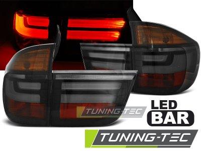 Задние фонари в стиле рестайла Neon Tube Smoke на BMW X5 E70