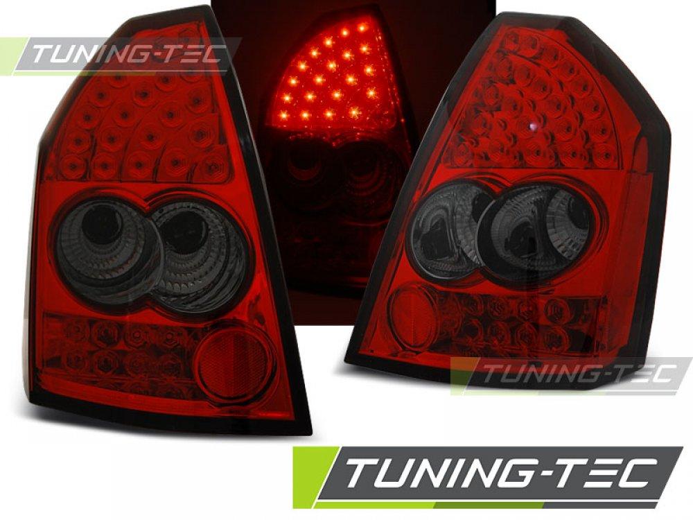 Задние фонари LED Red Smoke на Chrysler 300C