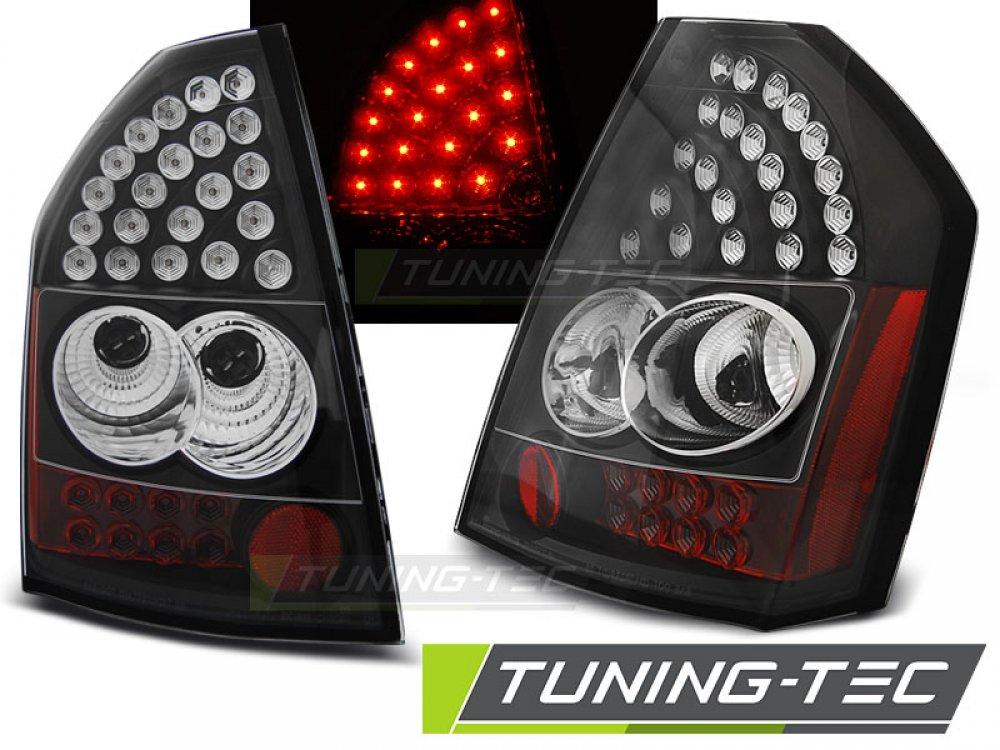 Задние фонари LED Black на Chrysler 300C рестайл
