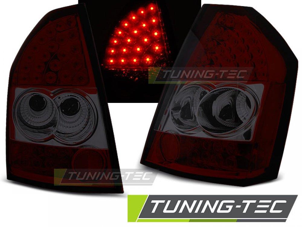 Задние фонари LED Red Smoke на Chrysler 300C рестайл