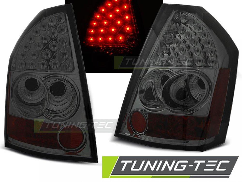 Задние фонари LED Smoke на Chrysler 300C рестайл