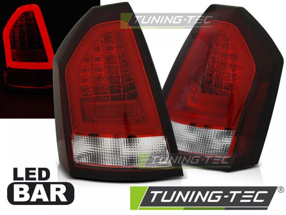 Задние фонари Neon LED Bar Red Crystal на Chrysler 300C