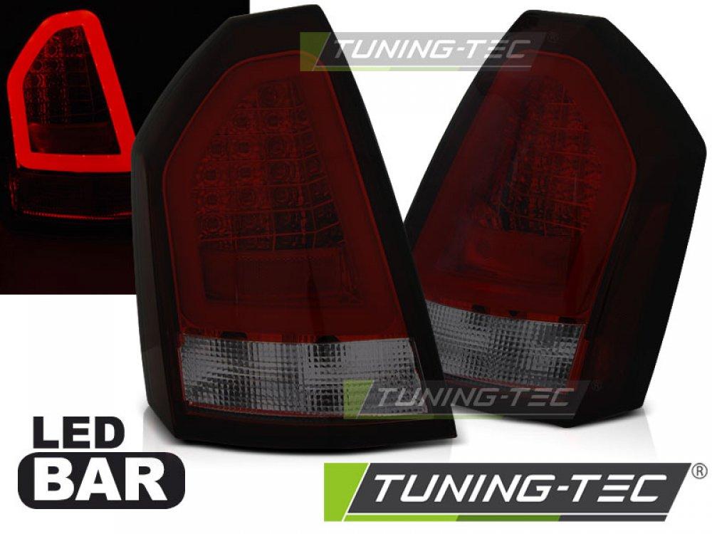 Задние фонари Neon LED Bar Red Smoke на Chrysler 300C