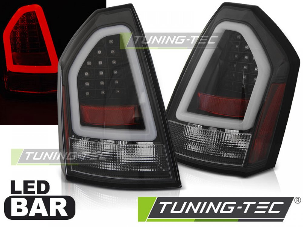 Задние фонари Neon LED Bar Black на Chrysler 300C