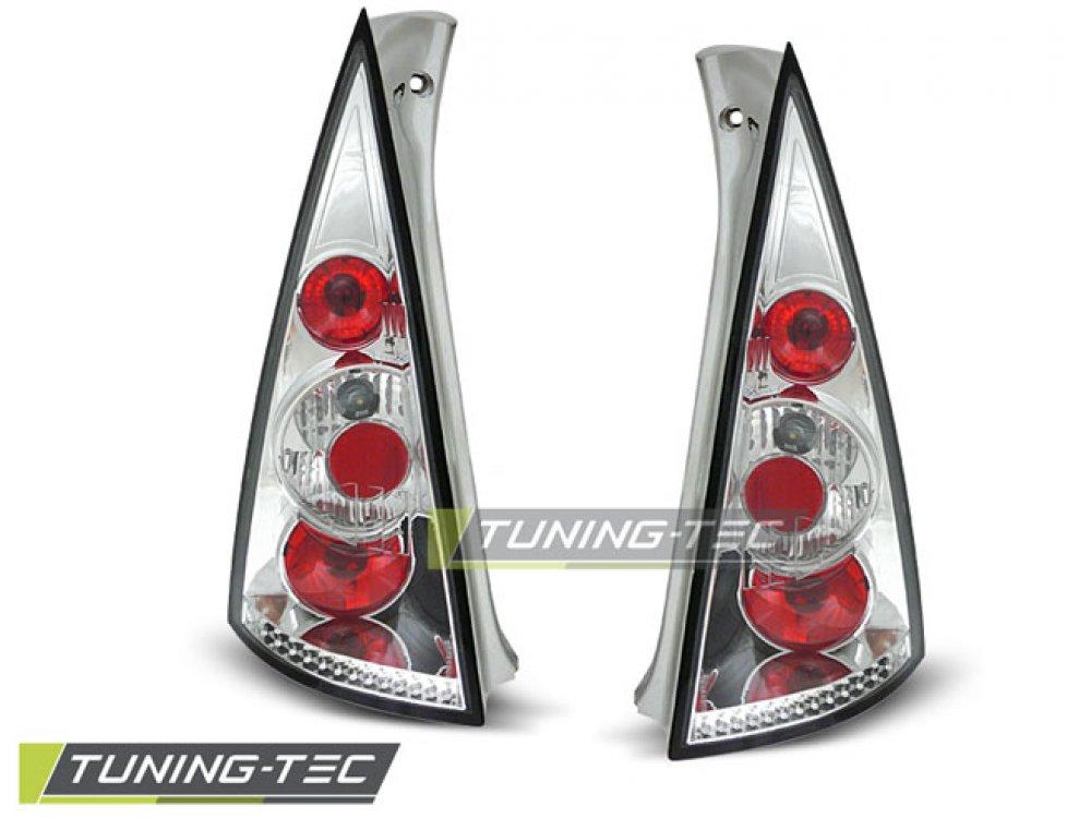 Задние тюнинговые фонари Chrome на Citroen C3