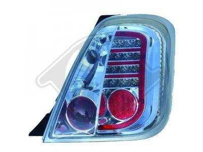 Задние фонари LED Chrome на Fiat 500