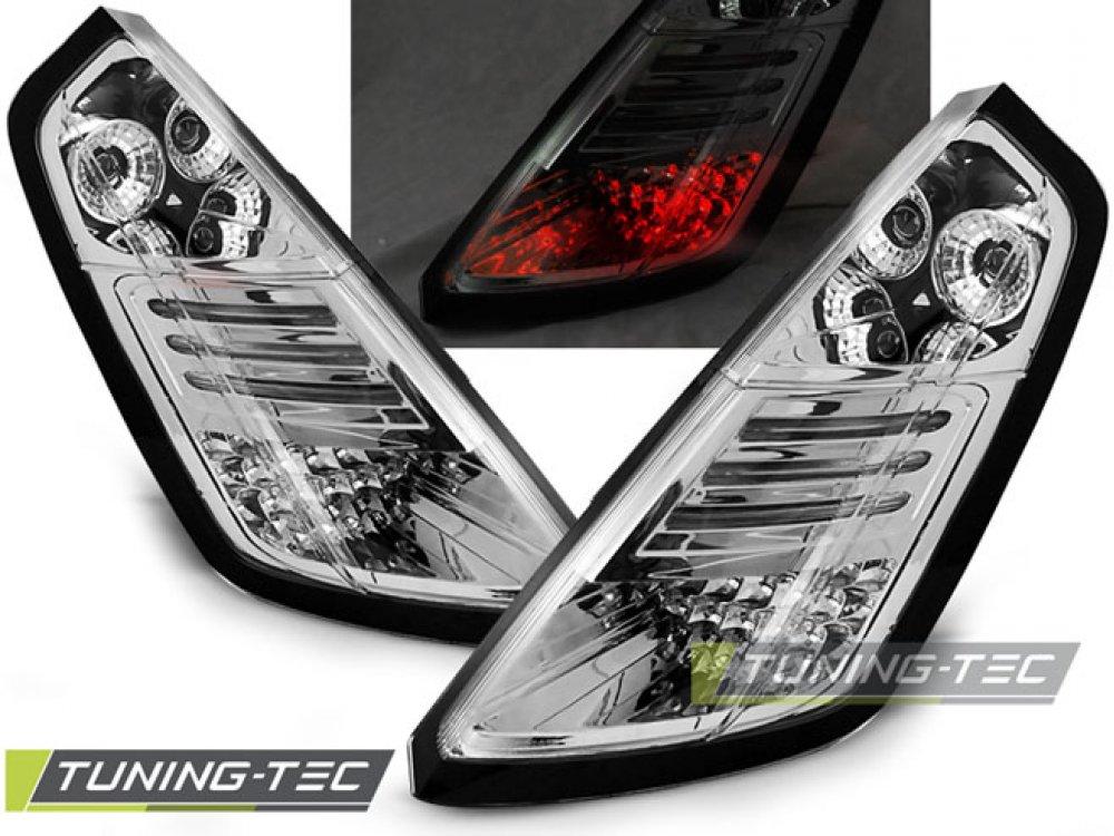 Задние фонари LED Chrome от Tuning-Tec на Fiat Grande Punto