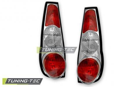 Задняя альтернативная оптика Chrome от Tuning-Tec на Fiat Punto I