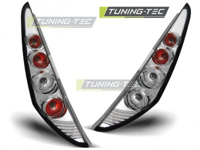 Задние фонари Chrome от Tuning-Tec на Fiat Punto II 3D