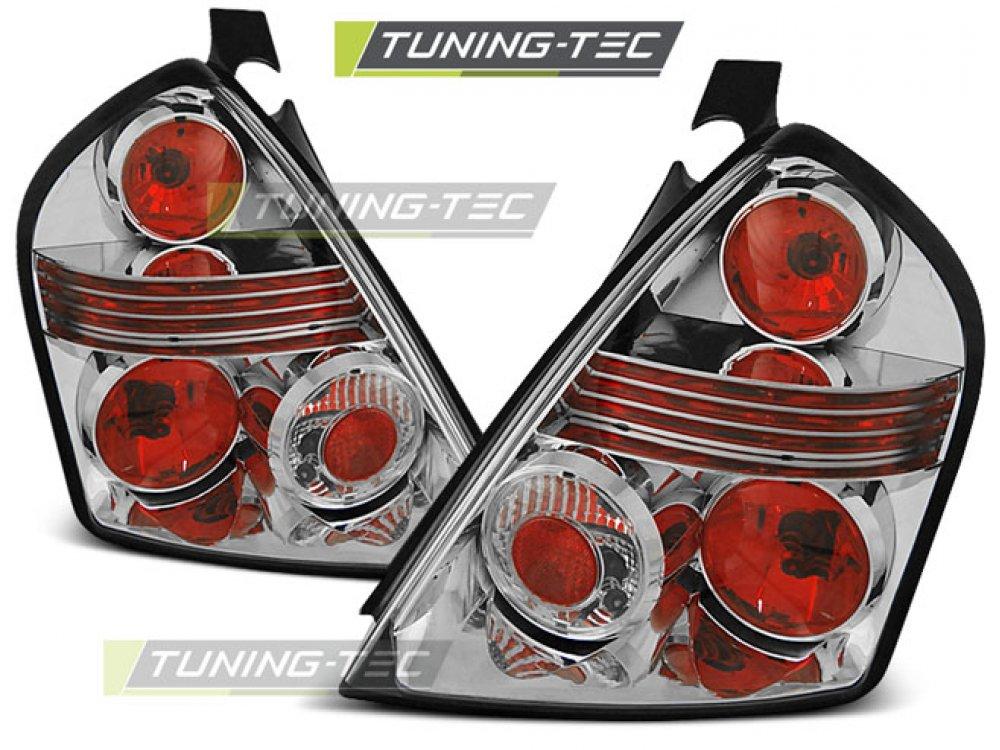 Задние фонари Chrome от Tuning-Tec на Fiat Stilo 3D