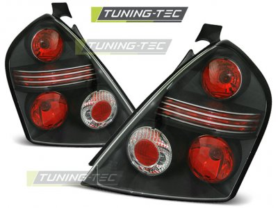 Задняя альтернативная оптика Black от Tuning-Tec на Fiat Stilo 3D