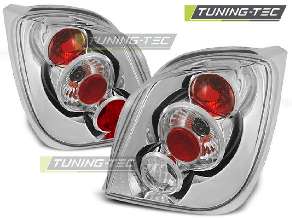 Задние фонари Chrome от Tuning-Tec на Ford Fiesta III