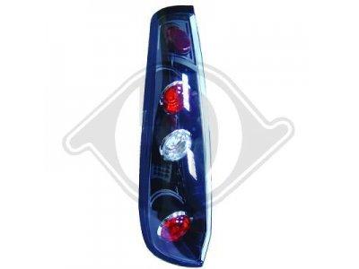 Задняя альтернативная оптика чёрная от HD на Ford Fiesta Mk6 3D