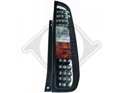 Задние фонари чёрные светодиодные от HD на Ford Fiesta Mk6 3D