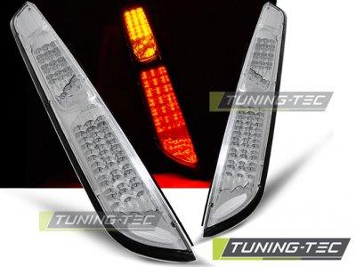 Задние светодиодные фонари хром от Tuning-Tec на Ford Focus II Hatchback рестайл