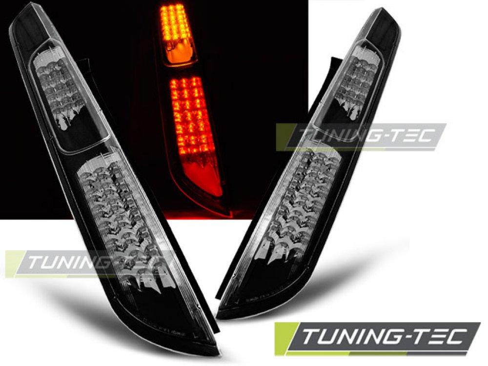 Задние светодиодные фонари чёрные от Tuning-Tec на Ford Focus II Hatchback рестайл