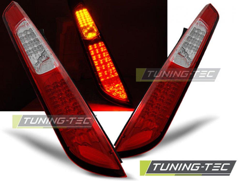 Задние светодиодные фонари красные от Tuning-Tec на Ford Focus II Hatchback рестайл