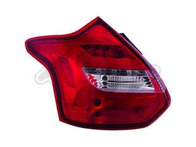 Задние светодиодные фонари динамические красные от HD на Ford Focus III 3D / 5D