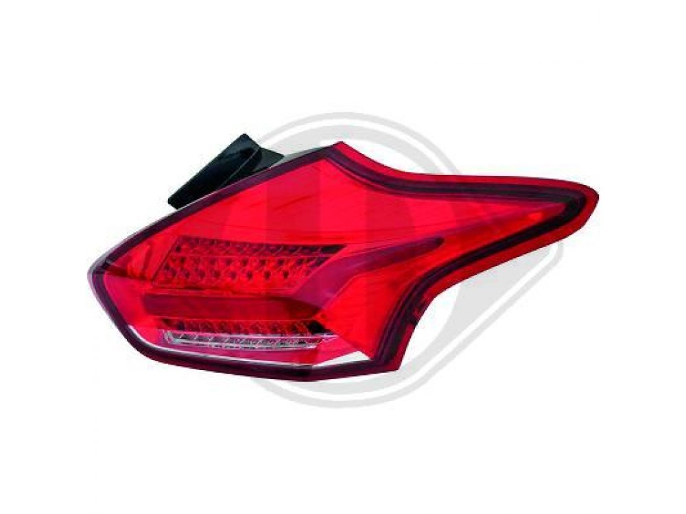 Задние светодиодные фонари красные от HD на Ford Focus III 3D / 5D рестайл