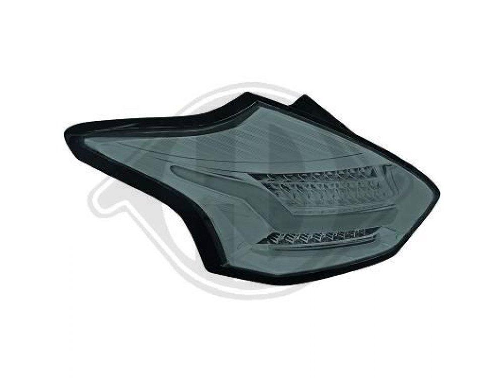 Задние светодиодные фонари тёмные от HD на Ford Focus III 3D / 5D рестайл
