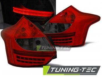 Задние светодиодные фонари красные тёмные от Tuning-Tec на Ford Focus III Hatchback