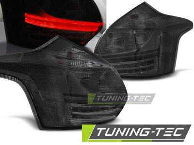 Задние светодиодные фонари тёмные от Tuning-Tec на Ford Focus III Hatchback