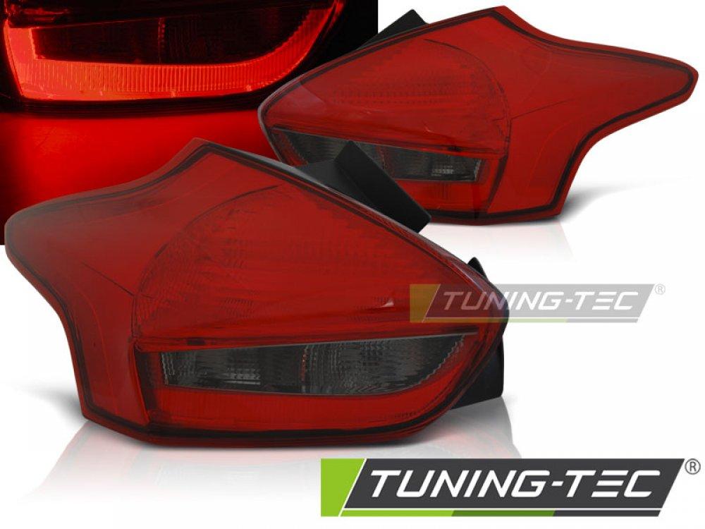 Задние светодиодные фонари красные от Tuning-Tec на Ford Focus III рестайл