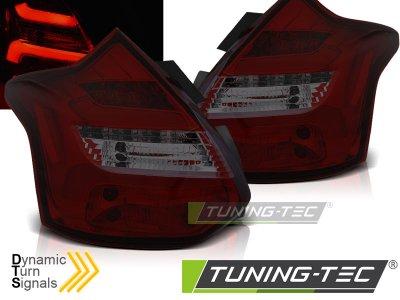 Задние фонари динамические красные тёмные от Tuning-Tec на Ford Focus III Hatchback