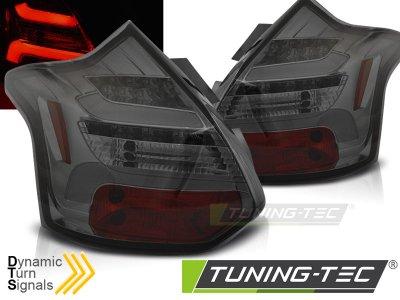 Задние фонари динамические тёмные от Tuning-Tec на Ford Focus III Hatchback