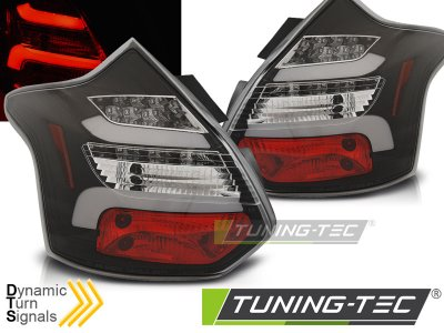 Задние фонари динамические чёрные от Tuning-Tec на Ford Focus III Hatchback