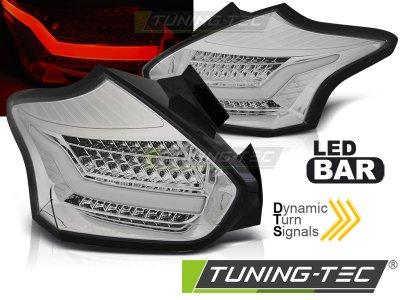 Задние фонари LED Chrome Dynamic от Tuning-Tec на Ford Focus III Hatchback рестайл