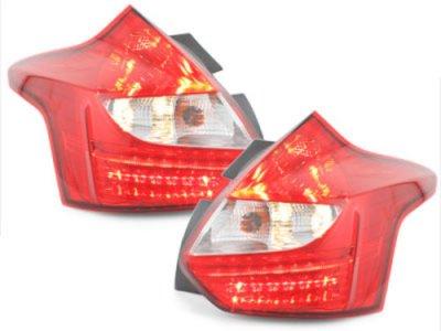 Задние фонари LED Red Crystal на Ford Focus III