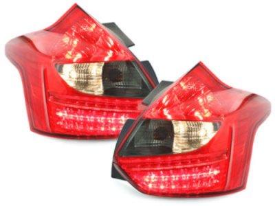 Задние фонари LED Red Smoke на Ford Focus III