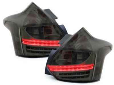 Задние фонари LED Smoke на Ford Focus III