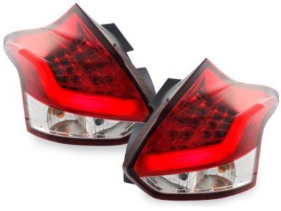 Задние фонари Neon LED Red Crystal на Ford Focus III