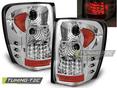 Задние тюнинговые фонари LED Chrome на Jeep Grand Cherokee WJ