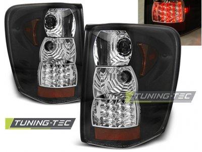 Задние тюнинговые фонари LED Black на Jeep Grand Cherokee WJ