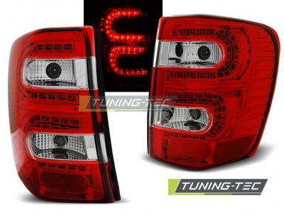 Задние светодиодные фонари LED Red Crystal на Jeep Grand Cherokee WJ