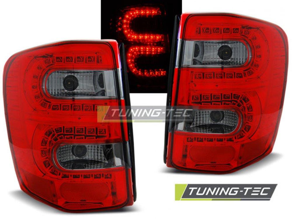 Задние фонари LED Red Smoke на Jeep Grand Cherokee WJ