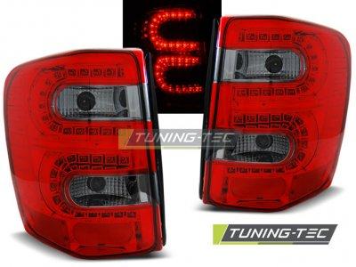 Задние светодиодные фонари LED Red Smoke на Jeep Grand Cherokee WJ