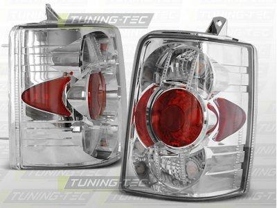 Задние тюнинговые фонари Chrome на Jeep Grand Cherokee ZJ