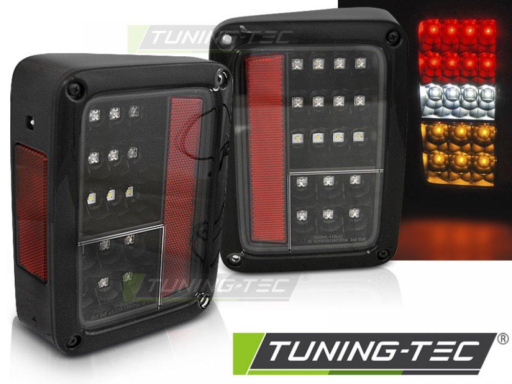 Задние диодные фонари чёрные от Tuning-Tec для Jeep Wrangler JK