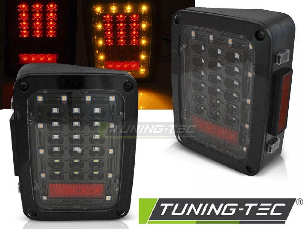 Задние светодиодные фонари чёрные от Tuning-Tec для Jeep Wrangler JK
