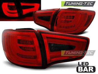 Задние фонари Neon Led Bar Red Smoke на Kia Sportage III