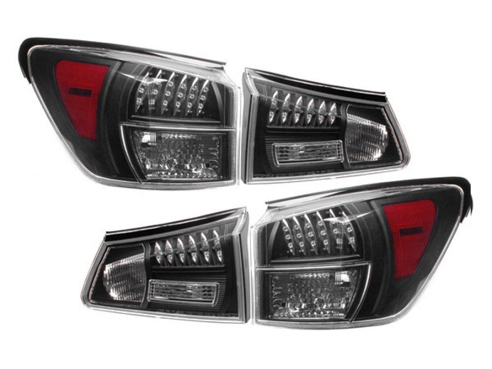 Задние диодные фонари Led Bar Black на Lexus IS 250 / IS 350