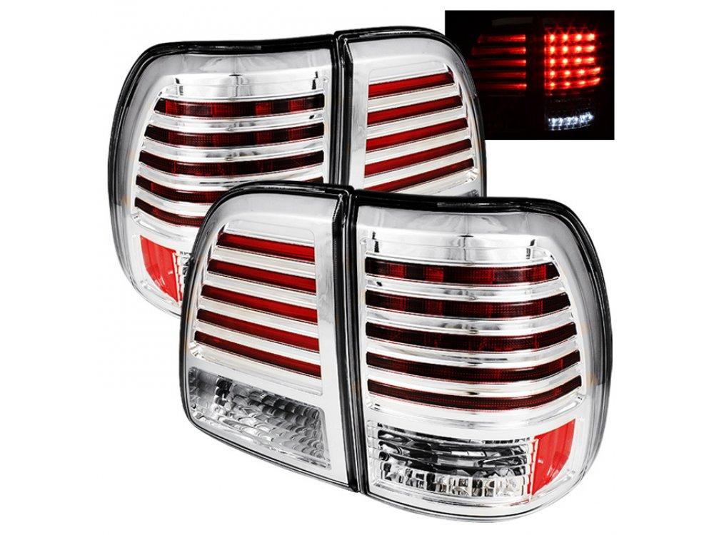 Задние диодные фонари Full Led Bar Chrome на Lexus LX 470