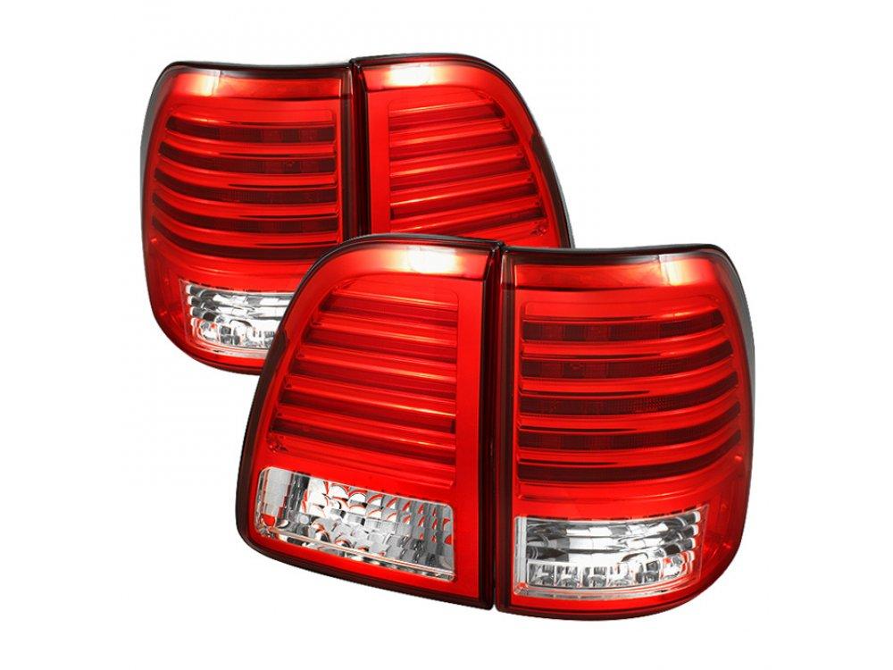 Задние диодные фонари Full Led Bar Red Crystal на Lexus LX 470