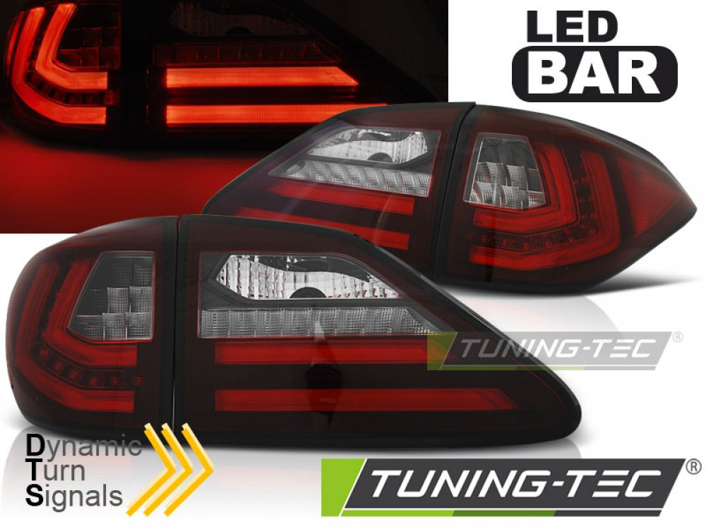 Задние фонари Dynamic Turn LED Red Crystal на Lexus RX III 350