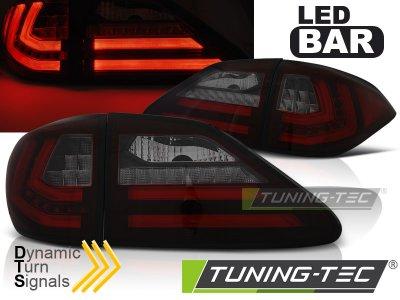 Задние тюнинговые фонари Dynamic Turn LED Red Smoke на Lexus RX III 350